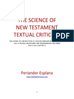 The Science of New Testament Textual Criticism by Periander Esplana