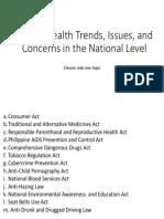 Topics for Health Unit 2