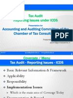 Tax Audit Reporting Issues for ICDS Under IGAAP