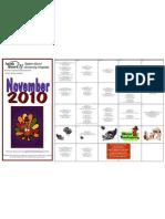 Monthly Calendar November 2010
