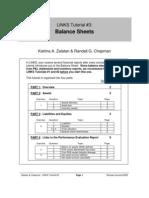 Tutorial - Balance Sheet