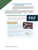 rol del docente ante las TIC