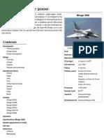 Dassault Mirage 2000 ingles