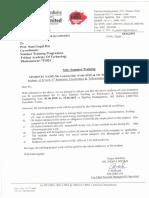 Indian Oil Internship letter format