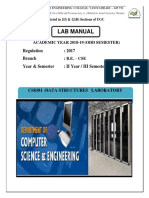 Cs8381 Datastructures Lab Manual
