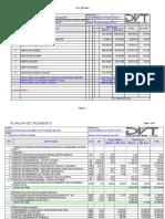 Planilha de Orçamento - Licitação