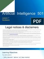 AI 501 - Lesson 7 - Hardware - V1.0