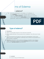 Type of Edema and Its Mechanism