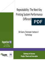 Print repeatability