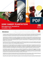 20171114 Sime Darby Plantation Management Roadshow Investor Version