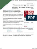 Vodafone, Idea Submit to DoT Demand