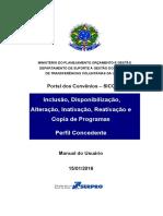 Manual Do Usuário – Portal Dos Convênios