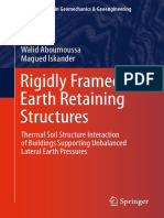 Regidly Framed Earth Retaining Structures