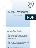 Instructions for PowerPoint Quiz Using VBA Adding a Score Counter