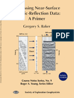 Processing Near surface seismic data