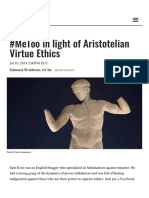 #MeToo in light of Aristotelian Virtue Ethics