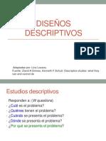 Diseños descriptivos