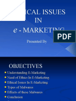 Ethical Issues in E-Marketing