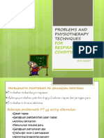 Problems and Physiotherapy Techniques(4-5)