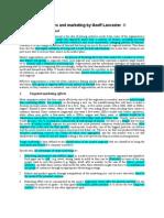 Marketing Notes - 18 Segmentation, Target and Posit Handout