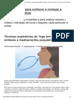 Técnicas respiratórias