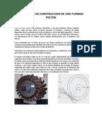 Materiales de Construccion de Una Turbina Pelton