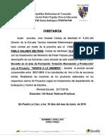 Costancia Acreditar CRP PROYECTOS