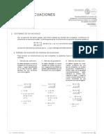 Ecuaciones Lineales Sistemas de Ecuaciones