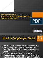 CLP (New) Talk 11 Life and Mission of CFC