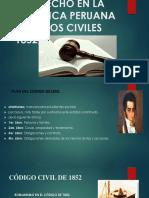 El Derecho en La República Peruana Códigos Civiles