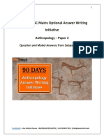 90 Days Answer Writing Anthropology – Paper 2