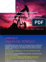 Unidad # 2 Origen Del Petroleo Evaluación de Roca Madre Principios y Metodos
