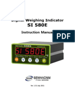 SI580 Weight Scale Manual
