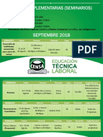 Guías Complementarias (Seminarios) Septiembre