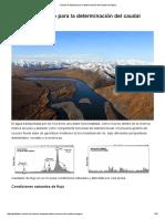 Cálculo Avanzado Para La Determinación Del Caudal Ecológico