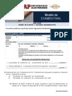 Modelo de Examen Final Plantas