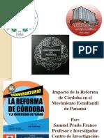 Presentación sobre la Reforma de Córdoba. Por