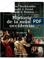 Burkholder Grout Palisca - Historia de La Música Occidental - 1-12