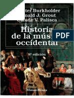 Burkholder Grout Palisca - Historia de La Música Occidental - 1-12