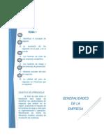 Generalidades de Una Empresa Para Plan de Negocios
