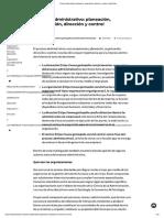 Proceso Administrativo_ Planeación, Organizacion, Dirección y Control