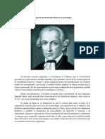 El Aporte de Immanuel Kant a La Psicología