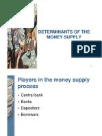 Determinants of the Money Supply