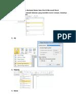 Cara Membuat Halaman Berbeda Dalam Satu File Di Microsoft Word