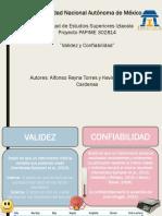 Validez y Confiabilidad PAPIME 302814