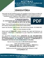 5º ENCONTRO REGIONAL DA ASSOCIAÇÃO DOS CONSELHEIROS E EX-CONSELHEIROS TUTELARES DA MATA SUL DE PERNAMBUCO.