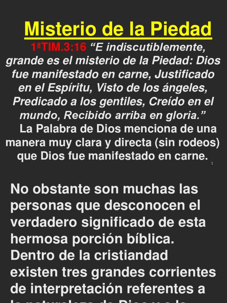Misterio De La Piedad Traducciones Dios En El Cristianismo