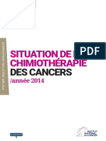 Situation de La Chimiotherapie Des Cancers Annee 2014_2015