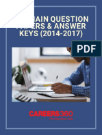 JEE Main Online Question Papers & Answer Keys (2014-2017)