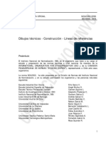 NCh 2362.Of96 Dibujos Técnicos - Construcción - Líneas de Referencia